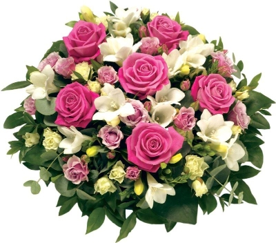 Pink and White Rose Posy.