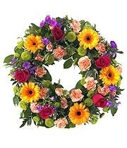 mixed vibrant wreath